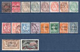 Colonies Françaises Levant 1886/1921  18 Timbres Différents   2,80 €  (cote 32,10 € 18 Valeurs) - Oblitérés