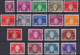NO605 – NORVEGE - NORWAY – 1926-52 – OFFICIAL LOT – MI # 4→67 USED 6,80 € - Officials