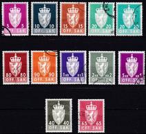 NO609 – NORVEGE - NORWAY - OFFICIAL SETS – 1969/73 – MI # 68y/90y USED 23,60 € - Officials