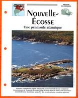 NOUVELLE ECOSSE Région Canada Géographie Pays Ou Ville Fiche Dépliante - Aardrijkskunde