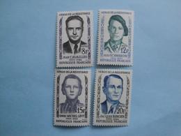 1958 France Yv 1157/60 ** MNH Cote 7.00 € Michel 1193/6 Scott 879/82 SG 1381/4  Héros De La Résistance - Nuovi