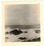 BRETAGNE MORBIHAN VIEILLE VERITABLE PHOTO DENTELEE EN 1954 QUIBERON MER ET ROCHERS - Luoghi