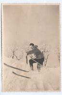 11145. Foto Vintage Uomo Sci Sciatore Neve Aa '50 Italia - 14x9 - Persone Anonimi