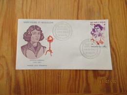 Enveloppe 1er Jour Saint-Pierre Et Miquelon Poste Aérienne Nicolas Copernic 1974 - FDC