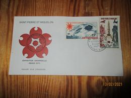 Enveloppe 1er Jour Saint-Pierre Et Miquelon Poste Aérienne Exposition Universelle Osaja 1970 - FDC