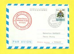 AEREI - VOLI SPECIALI - ELICOTTERI - SAN MARINO - PESARO - INTERI POSTALI - MARCOFILIA - Flugzeuge