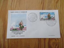 Enveloppe 1er Jour Saint-Pierre Et Miquelon Poste Aérienne Retour Des Iles 1966 - FDC
