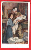 ST DUNSTAN'S  FUND RAISER FOR BLINDED WORLD WAR ONE SOLDIERS THE CHILD HE WILL NEVER SEE     ARTIST G BROWN - Guerra 1914-18