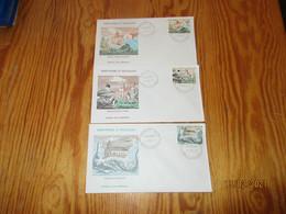 3 Enveloppes 1er Jour Saint-Pierre Et Miquelon Eglises 1974 - FDC