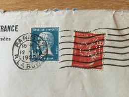 K16 France PERFIN 1929 Lettre De Paris Pour Solothurn Suisse - Storia Postale