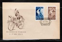 PL 1954 MI 845-46 FDC - FDC