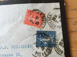 K16 France PERFIN 1929 Lettre De Bologne-sur-Mer Pour Solothurn Suisse - Storia Postale