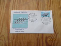Enveloppe 1er Jour Saint-Pierre Et Miquelon Championnat Du Monde D'aviron 1970 - FDC