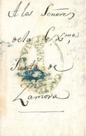 D.P. 14. 1843. Carta De Puebla De Sanabria A Zamora. Marca Nº 3V Y Porteo. Rara. - ...-1850 Prefilatelia
