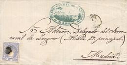 Ø 107 En Carta De Gijón A Madrid. Marca De Ferrocarril De Langreo. Muy Bonita. - Lettres & Documents