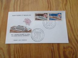 Enveloppe 1er Jour Saint-Pierre Et Miquelon U.P.U  1970 - FDC