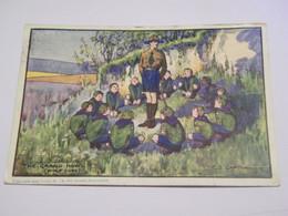 CPA - Illustrateur : Chapman - Les Scouts - Wolf Cubs - The Grand Howl - 1928 - SUP - (EN 41) - Other Illustrators