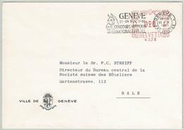 Schweiz / Helvetia 1961, Brief Genève - Basel, Freistempel, Concours Hippique - Horses