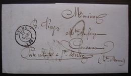 Reims 1849 Lettre En Poste Restante à Saint Dizier - 1849-1876: Classic Period