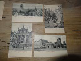 ALLEMAGNE : Lot De 4 Cartes De DANZIG (dos 1900)  ................ 201101-1968 - Danzig