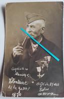 1914 Paris Volontaire De 1870 Prisonnier Allemagne Médaillé Vétéran Prusse Napoléon III  14-18  Tranchée Poilu Photo Ww1 - Guerra, Militari