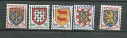 France Série Yvert N° 899 / 903 **  5 Valeurs Neuves  Sans Charniere --  Pal 4205 - Unused Stamps