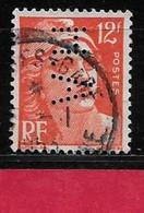 P1  Perfin France Perfore A.H 106 Sur Gandon N° 885 - Perfins
