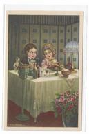 CARD BERTIGLIA LIBERTY CENETTA GALANTE INTIMA CON SPUMANTE LUI SGUARDO FELICE LEI TIMIDA ABAT-JOUR  -FP-N-2-0882-29845 - Bertiglia, A.
