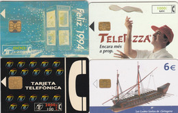 LOT 4 PHONE CARD SPAGNA (PV590 - Otros