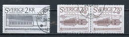 Suède - Schweden - Sweden 1985 Y&T N°1310 à 1311a - Michel N°1328A à 1329Dr (o) - EUROPA - Usati