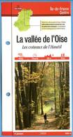 95 Val D'Oise LA VALLE DE L'OISE Coteaux De L'Hautil  Ile De France Fiche Dépliante Randonnées  Balades - Geografía