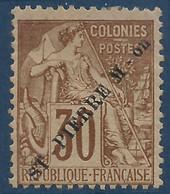 France Colonies St Pierre & Miquelon N°26* 30c Brun Tres Frais (tirage 7500) Signé Calves & Autres... - Neufs