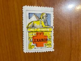Vignette - Alexandrie - Croix Rouge / Militaire - Rode Kruis