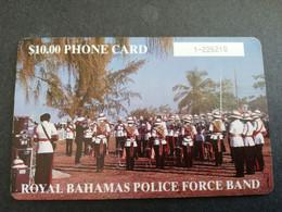 BAHAMAS $10,- CHIPCARD   THE ROYAL BAHAMAS  POLICE FORCE BAND  **4793** - Bahamas