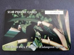 BAHAMAS $5,- CHIPCARD   THE BAHAMA PARROT   **4794** - Bahamas