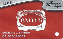 Bally's Casino Tunica, MS Slot Card - 7 Lines Of Text In Reverse Paragraph - Casino Cards