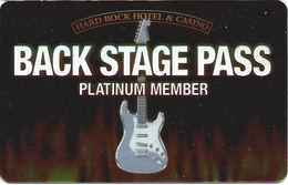 Hard Rock Casino - Las Vegas, NV - Platinum Member Slot Card  (BLANK) - Casino Cards