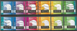 USA 2012/2015 Eagle Presorted - 2x Cpl 6v Set Really Used And Cancelled By USPS - Used Stamps