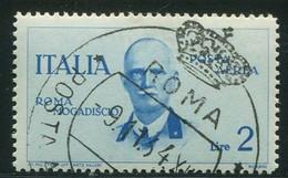 REGNO 1934 POSTA AEREA VOLO ROMA-MOGADISCIO 2 LIRE USATO - Airmail