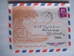 FRANCE TAHITI 27-3-1968  Vers SAINT LEU D'ESSERENT POSTE AUX ARMEES - Usati