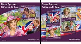 Guinea Bissau 2020, Diana, 4val In BF +BF - Guinea-Bissau