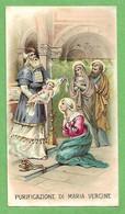 Santino/holy Card: PURIFICAZIONE DI MARIA VERGINE - E - PR - Cromolitografia - Religion & Esotericism