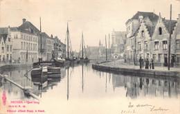 Brugge Bruges Quai Long  Langerei En Potterierei  Binnenschip Anno 1902 Reien    M 7034 - Brugge