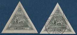 France Colonies Obock N°45 X2 1 Neuf & 1 Oblitéré TTB Signés Calves - Unused Stamps