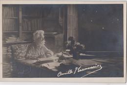 Carte Photo Camille Flammarion Dans Son Cabinet De Travail à Observatoire De Juvisy (91) Cachet à Sec Fontès Paris Photo - Identified Persons