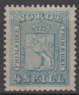 NORVEGIA - Norge - Norwegen - Norway - 1863/66 - 4 Skill - Yvert 8 - New - MNH - Ungebraucht