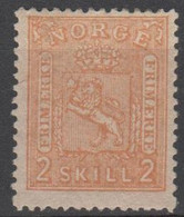 NORVEGIA - Norge - Norwegen - Norway - 1867/68 - 2 Skill - Yvert 12 - New - MNH - Ungebraucht