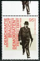 BRD - Mi 3589 Oberrand ✶✶ (P) - 95C  Friedrich Ebert, Ausg.: 4.02.2021 - Unused Stamps