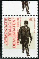 BRD - Mi 3589 Oberrand ✶✶ (Q) - 95C  Friedrich Ebert, Ausg.: 4.02.2021 - Unused Stamps
