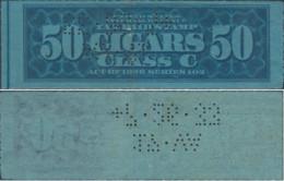 Stati Uniti D'america,United States,U.S.A,1926 Revenue Stamp TAX PAID 50 CIGARS (PERFIN) Used - Perforados